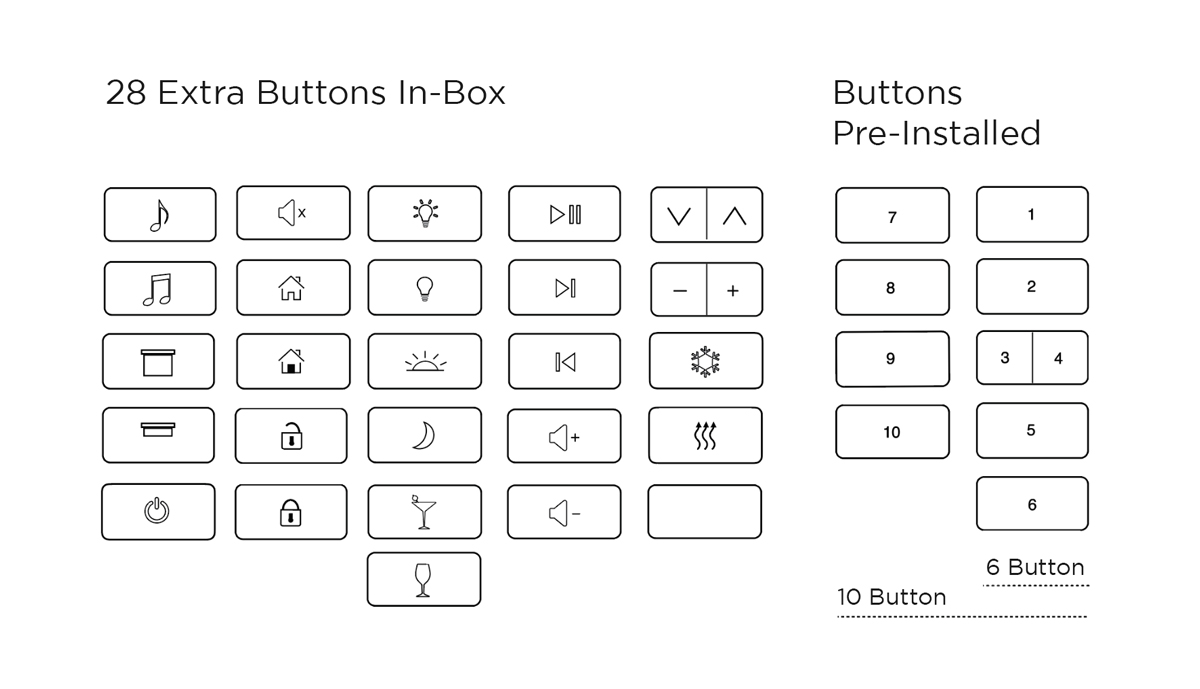 IPORT Surface Mount Buttons - Buttons Options.