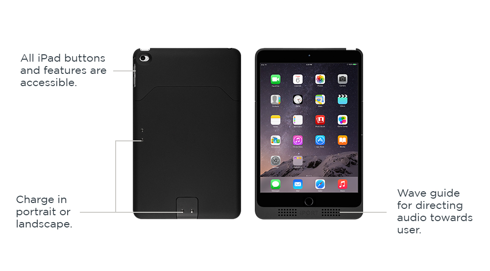 IPORT Charge Case, the black iPad charging case by IPORT.