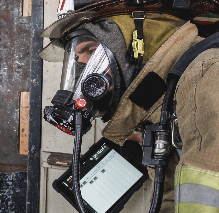The LAUNCH Rugged System, the iPad rugged case by IPORT, being used by First Responders in the field.