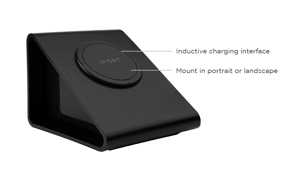 IPORT LAUNCH BaseStation, the black iPad charging station and magnetic mount by IPORT.